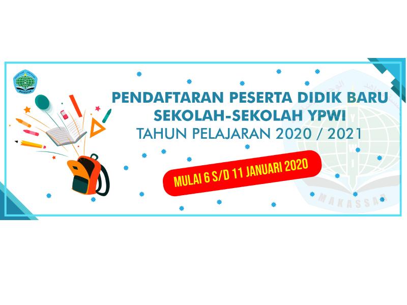 PENDAFTARAN PESERTA DIDIK BARU SEKOLAH-SEKOLAH YPWI TAHUN AJARAN 2020-2021