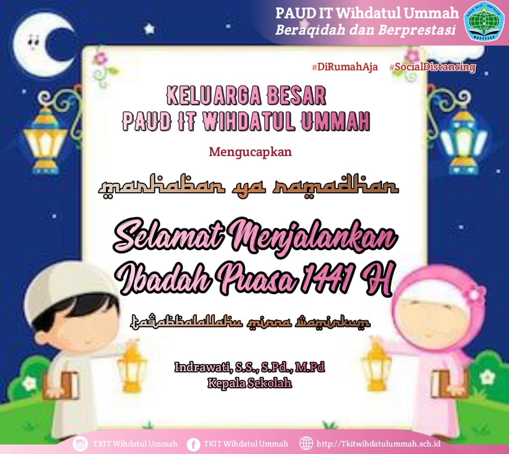 PAUD IT WU – MARHABAN YAA RAMADHAN 1441 H