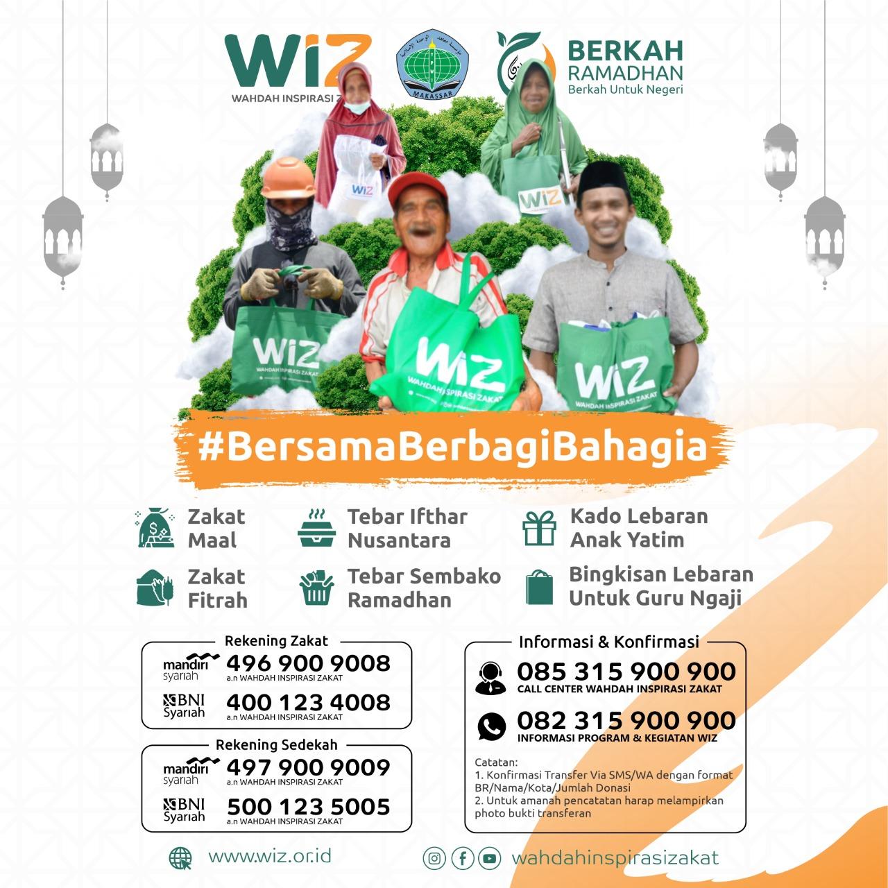 Bersama WIZ – YPWI berbagi Berkah Ramadhan