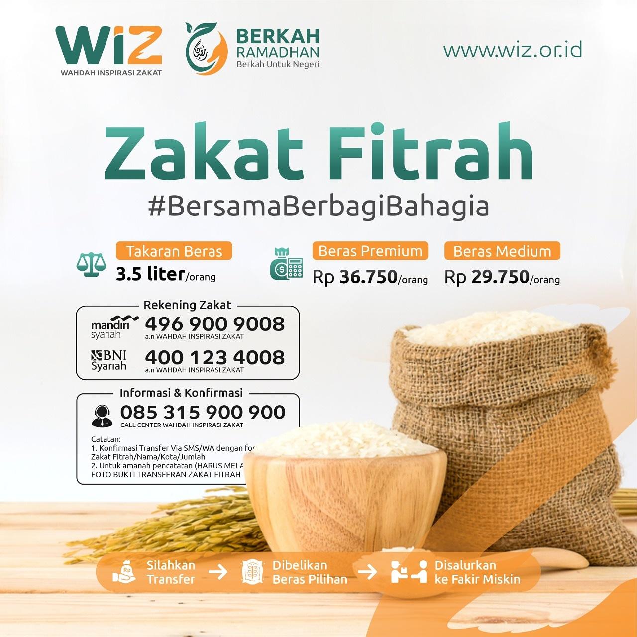 Zakat Fitrah bersama WIZ