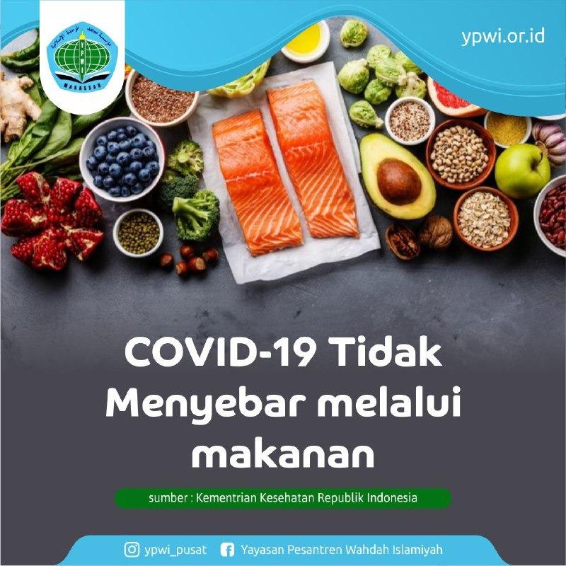 COVID-19 tidak menyebar melalui makanan